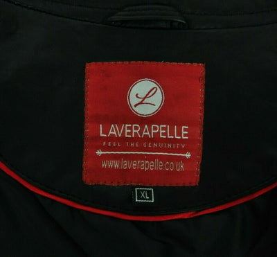 NWT Laverapelle Black Leather Jacket XL Mens Cafe Racer