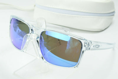 Display Model Oakley Sliver Polished Clear Sapphire Iridium OO9262-06 Sunglasses