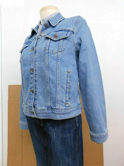 NWT Lady Levis Blue Denim Original Trucker Jacket Large Medium Blue