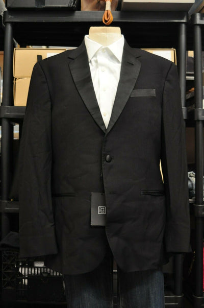 NWT The BLK Tux Tuxedo Mens Merino Wool 42R 34/32 Black Prom Wedding