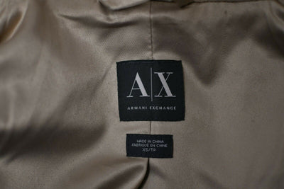 NWOT Armani Exchange XS Tan Wool Blend Pea Coat Double Breasted Womens