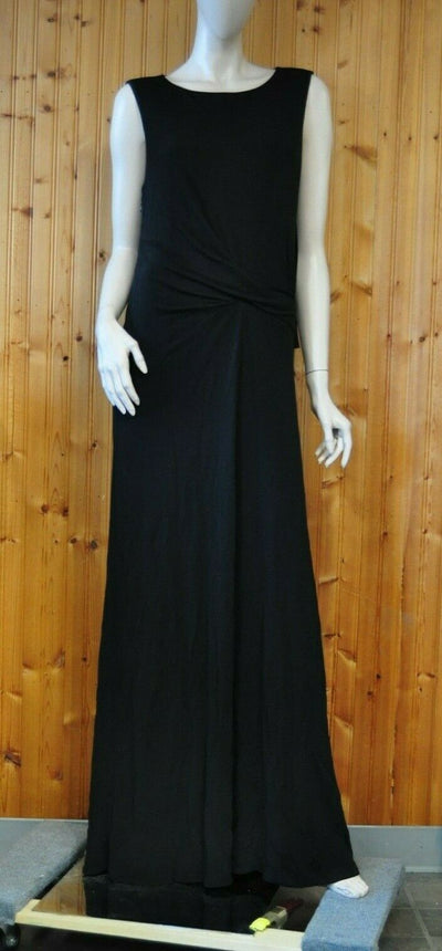 NWT $280 Armani Exchange Black Long Maxi Dress Large Rayon Formal