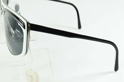 NOS Luxottica Black & White Space Age Oversized Sunglasses 8592 M139 Italy