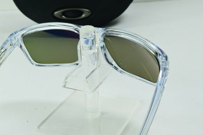 Display Model Oakley Sliver Polished Clear Sapphire Iridium MPH Sunglasses