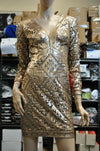 NWT Tadashi Shoji Sequin Short Gown Size 2 Rose Gold Dress Cocktail