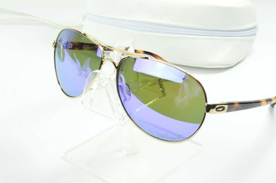 Display Mdl Oakley Feedback Gold Violet Iridium Polarized OO4079-18 Sunglasses
