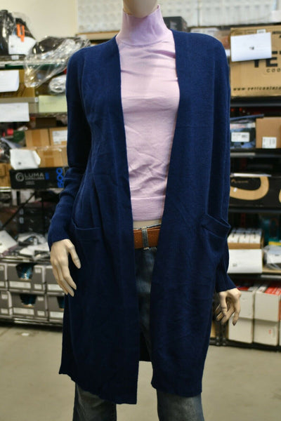 NWT Theory Light Weight Cardigan Royal Navy Blue Petite 100% Cashmere