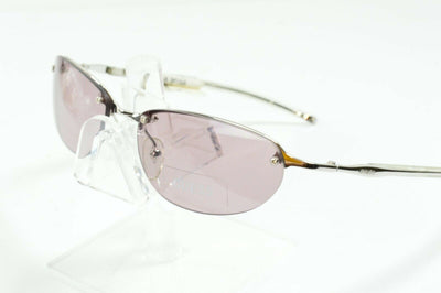 NOS Vintage Guess Collection Silver Clear Half Rimless Sunglasses Oval GU6017