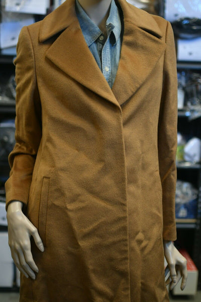 NWT Jaeger Wool Camel Tan Trench Coat Overcoat Winter Womens 8