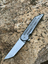 Jake Hoback Knives Kwaiback MK5 Folder Titanium with Fullers Bronze Anodized