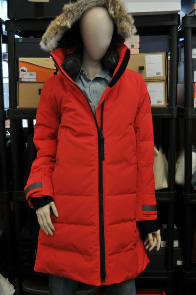 NWT $1150 Canada  Goose Black Lable Kenton Red Parka Womens Medium Down Slim Fit