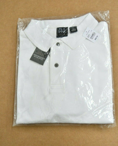 NWT Jos A Bank Polo Traveler White Traditional Fit Cotton Golf XL