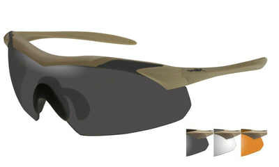 NEW Wiley X WX Vapor 3 Lens Pack Sunglasses Tan or Matte Black