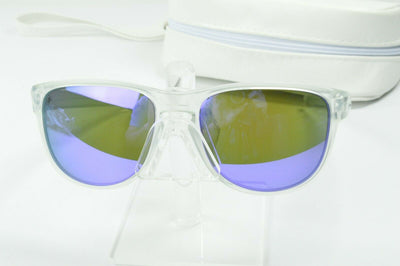 Display Model Oakley Sliver R Matte Clear Violet Iridium OO9342-02 Sunglasses
