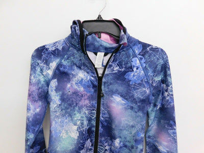 NWT Ivivva by Lululemon On a Moonwalk Jacket Hoodie Size 12 Girls Blue Purple