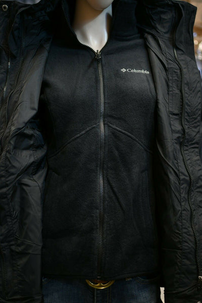 NWT $220 Columbia Hooded Blazing Star Interchange Jacket Black Small