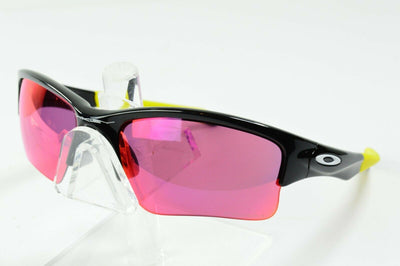 Display Md Oakley Quarter Jacket Black Yellow Prizm Polarized MPH Sunglasses