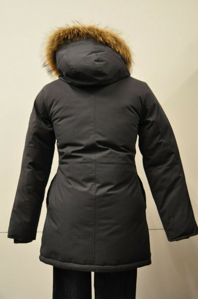 NWT $350 Toboggan Canada Small Jacqueline Heritage Down Hooded Parka Charcoal Gray