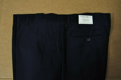 NWT Lorenzo Bruno Double Breasted Suit Navy Blue Super 150s Wool 48R 42W