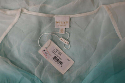 NWT Milly Cabana Ombre Island Tunic Top Small Seafoam Green Silk