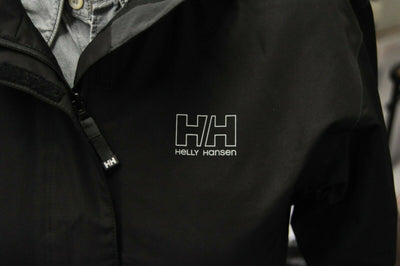 NWT Helly Hansen Black Seven Rain Jacket Hooded Softshell Womens