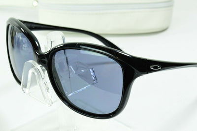 Display Model Oakley Pampered Polished Black Gray OO9160-01 Sunglasses