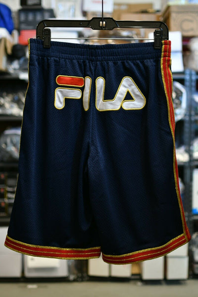 NWT Fila Boxing Shorts Navy Blue Metallic Dazzle Mens Track