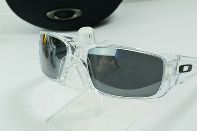 Display Model Oakley Crankshaft Polished Clear Black Polarized MPH Sunglasses