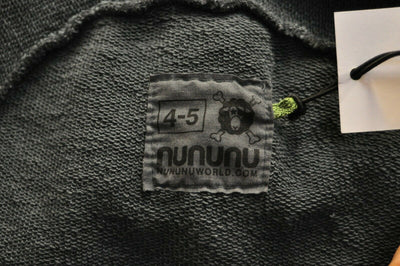 NWT Nununu Black Hooded Sweatshirt 4-5 Cotton