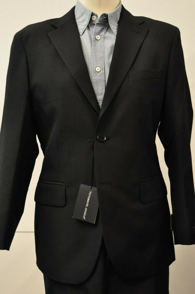 NWT Vittorio St Angelo Black 2 Piece Suit 36S 30x34 Mens