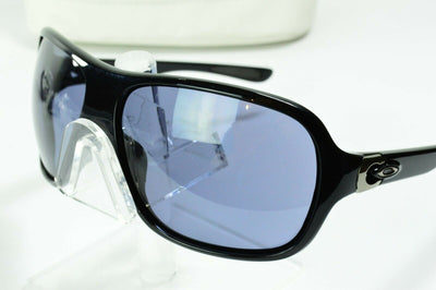 Display Model Oakley Underspin Polished Black Gray Lens OO9166-01 Sunglasses