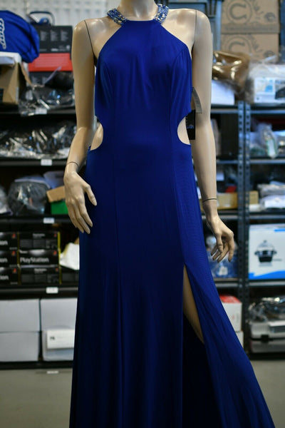 NWT $358 Faviana Royal Blue Cutout Dress Prom Party Evening Sz 10