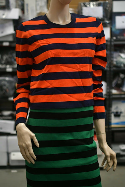 NWT Veronica Beard Broome Long Sleeve Sweater Medium Red Blue Striped Knit