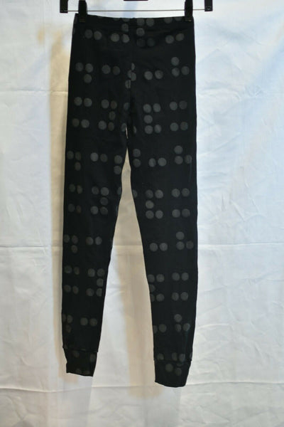 NWT Nununu Black Gray Polka Dot Sweat Pants 10-11 Cotton
