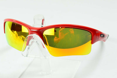 Display Md Oakley Quarter Jacket Black Red Fire Iridium MPH Sunglasses