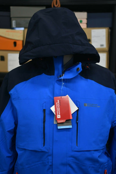 NWT Mountain Warehouse Armstrong 4 Way Extreme Recco Parka -40 Blue Mens Medium
