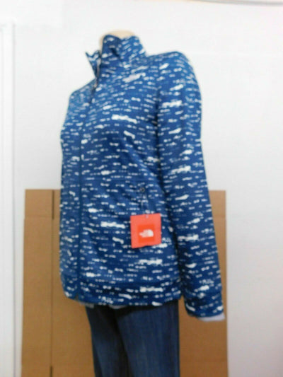 NWT $80 North Face Slate Blue Cinder Front Zipper Track Jacket