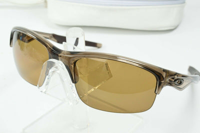 Display Model Oakley Bottle Rocket Brown Smoke Bronze Polarized Sunglasses Wrap