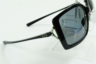 Display Model Oakley Splash Polished Black Gray Polarized Sunglasses OO9258-02