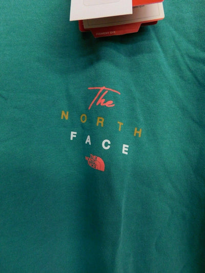 NWT The North Face T Shirt Small Standard Fit Green Porcelain