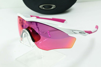 Display Mdl Oakley M Frame White Pink Prizm Polarized MPH Sunglasses