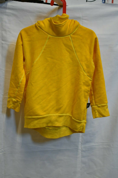 NWT Nununu Yellow Hooded Sweatshirt 4-5 Cotton