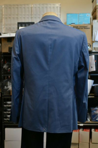 Perry Ellis Blazer  Size:  Very Slim  44  Short   Color:  Blue Cotton blend