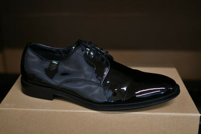 NWOB The Black TUX  Shoes Tuxedo Patent Leather US 9