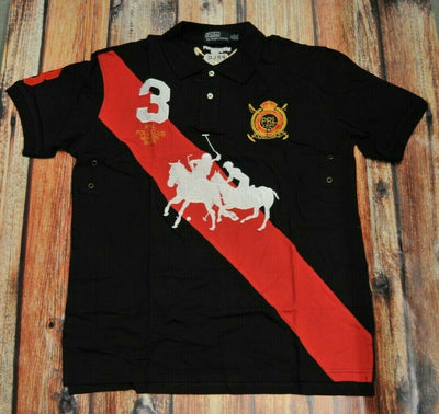NWT  Polo Ralph Lauren Classic Fit Black Polo XL Mercer Club Large Pony