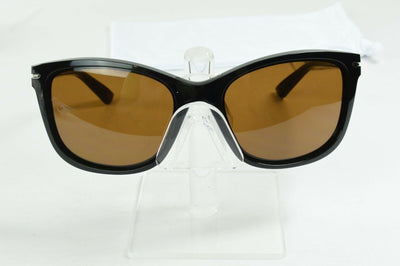 Display Model Oakley Drop In Polished Black Dark Bronze Sunglasses OO9232-15