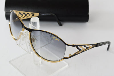 CAZAL Black Gold Gray Gradient Oval Sunglasses 9026-001 57mm