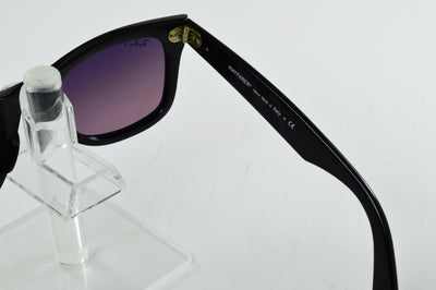Ray-Ban Wayfarer RB2140 Gloss Black Violet Polarized Lens Sunglasses