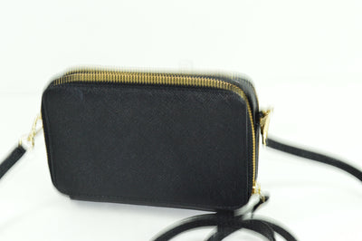 NWOT Kate Spade Crossover Clutch Wallet Black Textured Leather 6x4x1.5