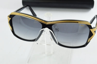 CAZAL Black Gold Gray Gradient Oversized Sunglasses 8031-001 60mm